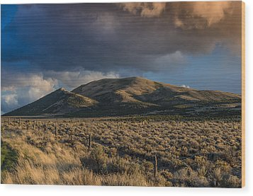 Storm Clearing Over Great Basin Wood Print by Greg Nyquist
