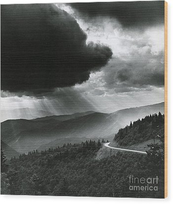 Storm Cloud Wood Print by Bruce Roberts and Photo Researchers