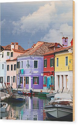 Storm Clouds Over Burano Wood Print by Paul Cowan