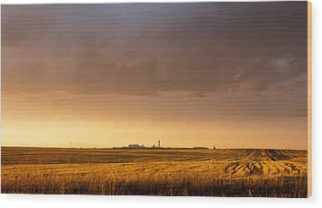 Wood Print featuring the photograph Storm Clouds Over Dia by Monte Stevens