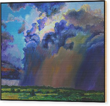 Storm Clouds Over Missouri Wood Print by John Lautermilch