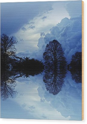 Storm Clouds Wood Print by Sharon Lisa Clarke