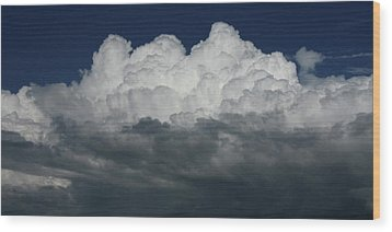 Storm Front Wood Print by David Paul Murray