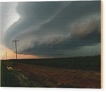 Wood Print featuring the photograph Storm Front by Debbie Portwood
