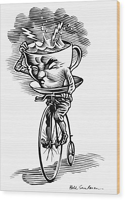 Storm In A Teacup, Conceptual Artwork Wood Print by Bill Sanderson