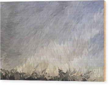 Storm In Life Wood Print by Deborah Benoit