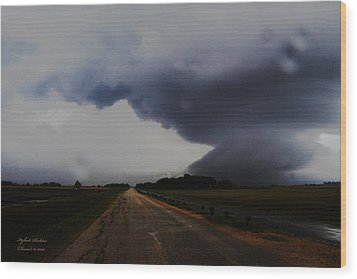 Wood Print featuring the photograph Storm by Itzhak Richter
