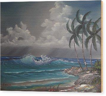 Storm On The Horizon Wood Print by John Koehler