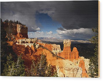 Storm Over Bryce Canyon Wood Print by Butch Lombardi