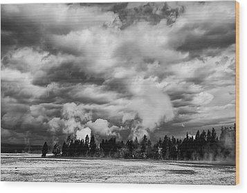 Storm Over Firehole Lake Drive Wood Print by Daniel Hagerman