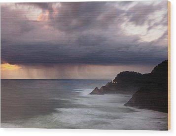 Storm Over Heceta Head  Wood Print by Keith Kapple