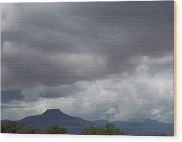 Wood Print featuring the photograph Storm Over The Pedernal by Susan Alvaro