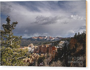 Storm Over The South Rim Bryce Canyon Wood Print by Butch Lombardi
