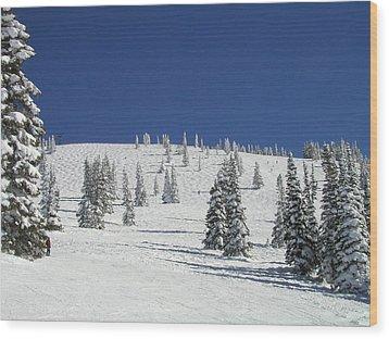 Storm Peak Face Wood Print
