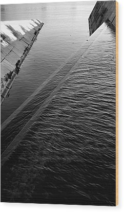 Storm Water Graphic Wood Print by Steven Ainsworth