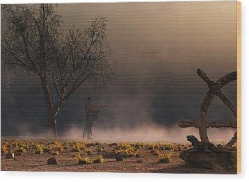 Stormwalk Wood Print by Daniel Eskridge