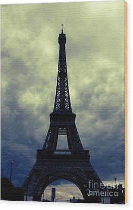Stormy Day In Paris Wood Print by Carol Groenen