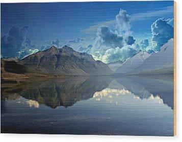 Stormy Lake Wood Print by Marty Koch