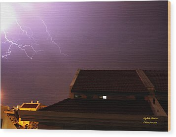 Wood Print featuring the photograph Stormy Night by Itzhak Richter