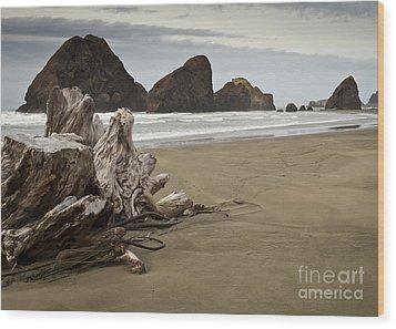 Stormy Oregon Coast Wood Print by Jim Adams