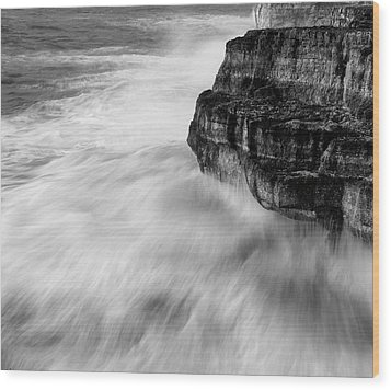 Wood Print featuring the photograph Stormy Sea 1 by Pedro Cardona