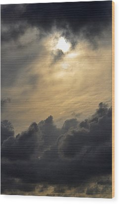 Wood Print featuring the photograph Stormy Skies by Sarah McKoy