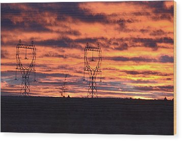 Stormy Sunrise Wood Print