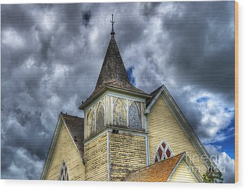 Stormy Times Wood Print by Bob Christopher