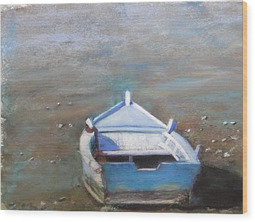 Wood Print featuring the painting Stranded by Cindy Plutnicki
