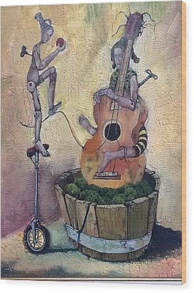 Strange Melody For A False Event Wood Print by Carlos Rodriguez Yorde