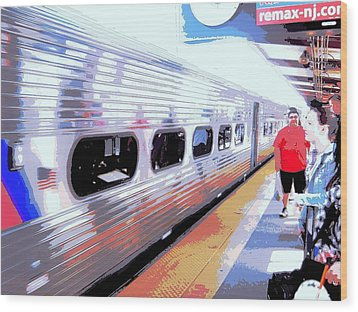 Strangers Almost On A Train Wood Print by Don Struke