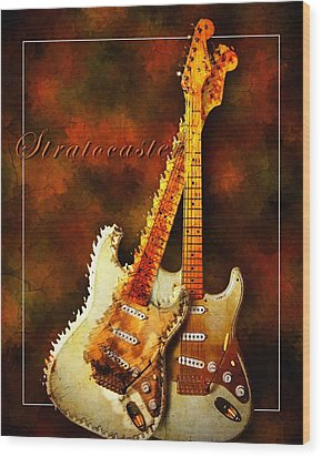Stratocaster Wood Print by Robert Smith
