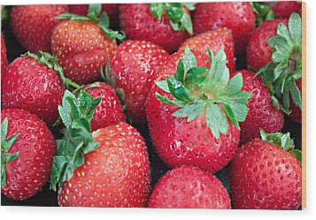 Wood Print featuring the photograph Strawberry Delight by Sherry Hallemeier