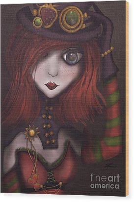 Strawberry Shortcake Steampunk Wood Print
