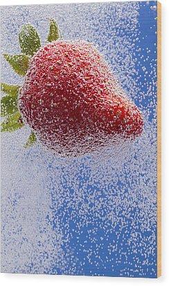 Strawberry Soda Dunk 2 Wood Print by John Brueske