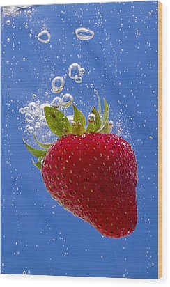 Strawberry Soda Dunk 3 Wood Print by John Brueske
