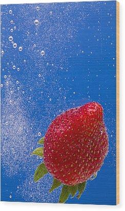Strawberry Soda Dunk 4 Wood Print by John Brueske