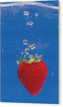 Strawberry Soda Dunk 6 Wood Print by John Brueske