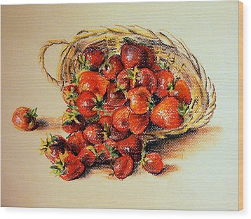 Strawberry Wood Print by Svetlana Nassyrov