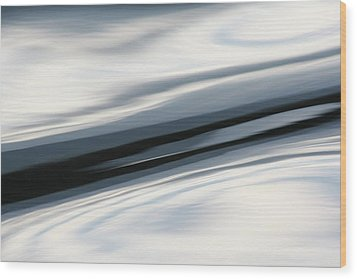 Wood Print featuring the photograph Streak Of Blue by Cathie Douglas