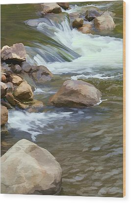 Wood Print featuring the photograph Stream by John Crothers
