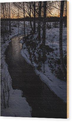 Wood Print featuring the photograph Stream by Matti Ollikainen