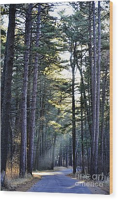 Streaming Dawn Wood Print by Whispering Feather Gallery