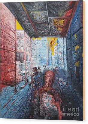 Street 2 Wood Print by Bekim Mehovic