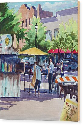 Street Fare Wood Print by Ron Stephens