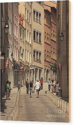 street in Lyon  Wood Print
