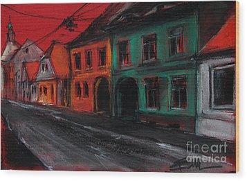 Street In Transylvania 1 Wood Print by Mona Edulesco