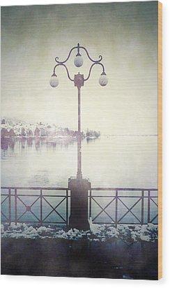 Street Lamp Wood Print by Joana Kruse
