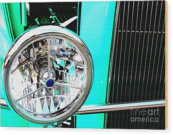 Wood Print featuring the digital art Street Rod Beauty by Tony Cooper