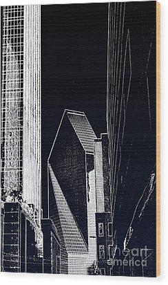 Streets Of Dallas Wood Print by Joe Finney